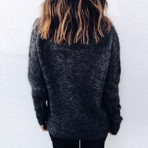 High Collar Long Sleeves Sweater