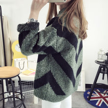 Circular Collar Long Sleeves Thickening Sweater
