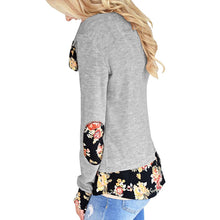 Circular Collar Splicing Printing Long Sleeves T-Shirt