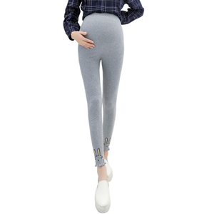 Pregnant Women Trousers Rabbit Print Leggings Pants