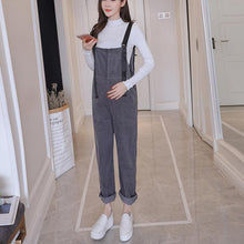Pregnancy Bib Pant Loose  Suspenders Trousers