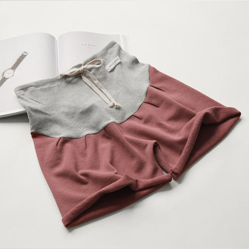 Maternity Cotton Color Block Sports Short Pants