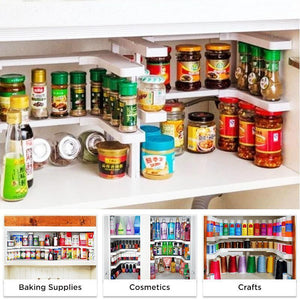 ( Double layer ) Spice Rack and Stackable Shelf(Limited Time Promotion-40% OFF)