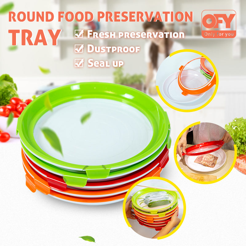 (Up to 51% OFF) OFY Round Food Preservation Tray
