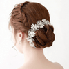 Pearl Silver Hair Vine Braided Headband