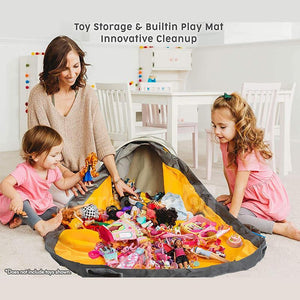 Large Toy Storage Basket Playmat