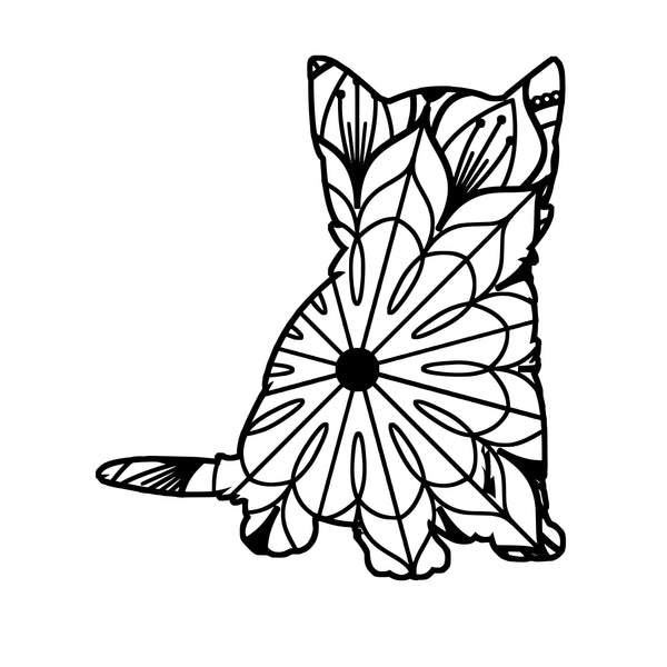 Make Someone Happy with a Mandala. Kitten Mandala Kitten Mandala Svg