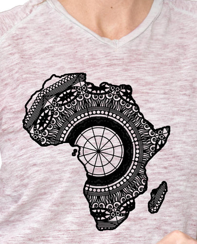 Africa Map Mandala Animal SVG