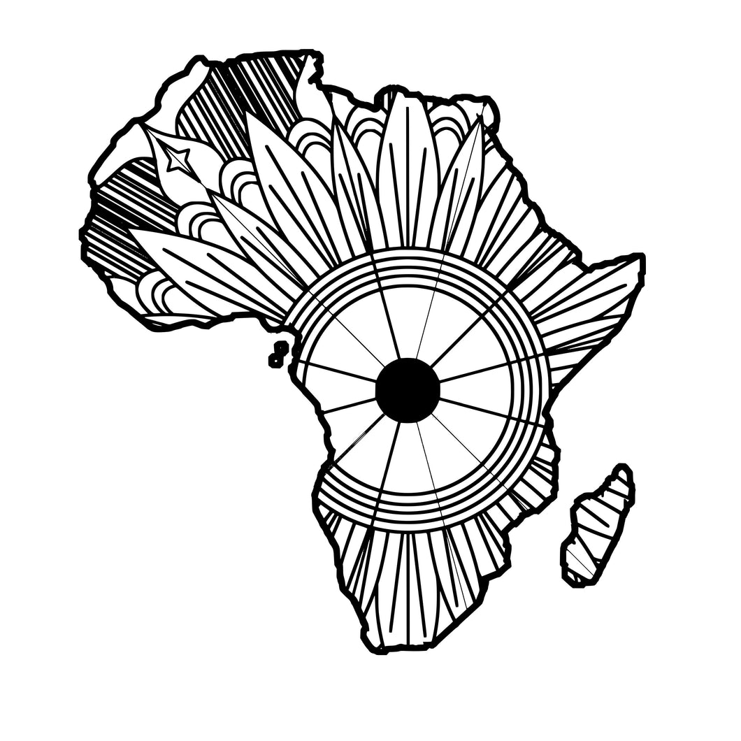 Africa Map Mandala SVG