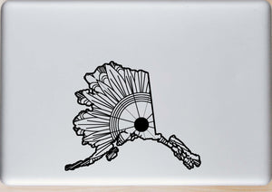 Alaska Map Mandala SVG