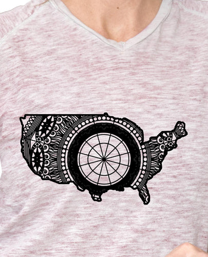 America Map Mandala Animal SVG