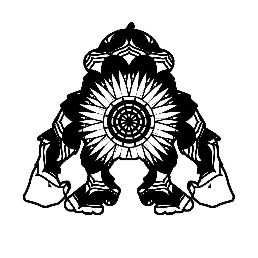 Ape Mandala Animals SVG