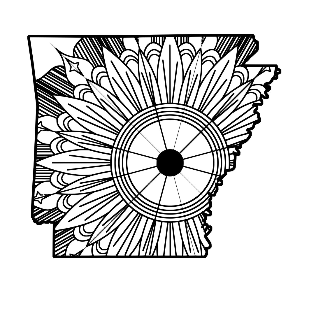 Arkansas Map Mandala SVG