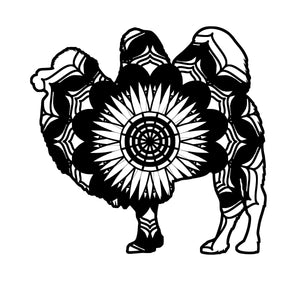 Bactrian Camel Mandala Animals SVG
