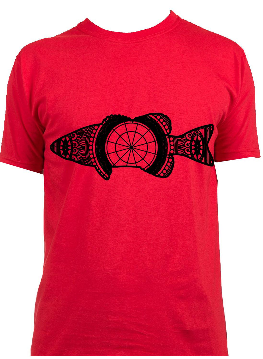 Bass Fish Mandala Animal SVG