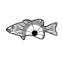 Bass Fish Mandala SVG