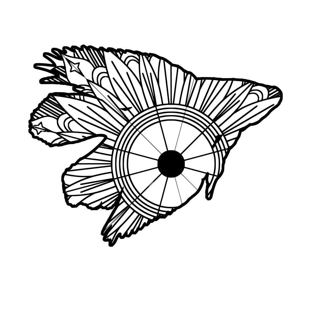 Betta Fish Mandala SVG