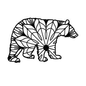 Black Bear Mandala - Black Bear Mandala Svg -