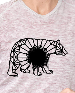 Black Bear Mandala Animal SVG, PNG, DXF & EPS Cut File Download