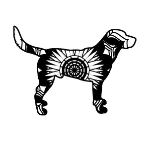 Black Labrador Mandala Animals SVG