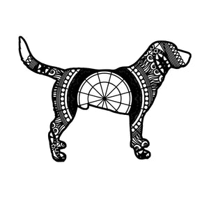 Black Labrador Mandala Animal SVG