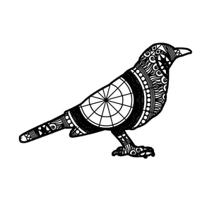 Blackbird Mandala Animal SVG