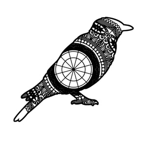 Bluebird Mandala Animal SVG