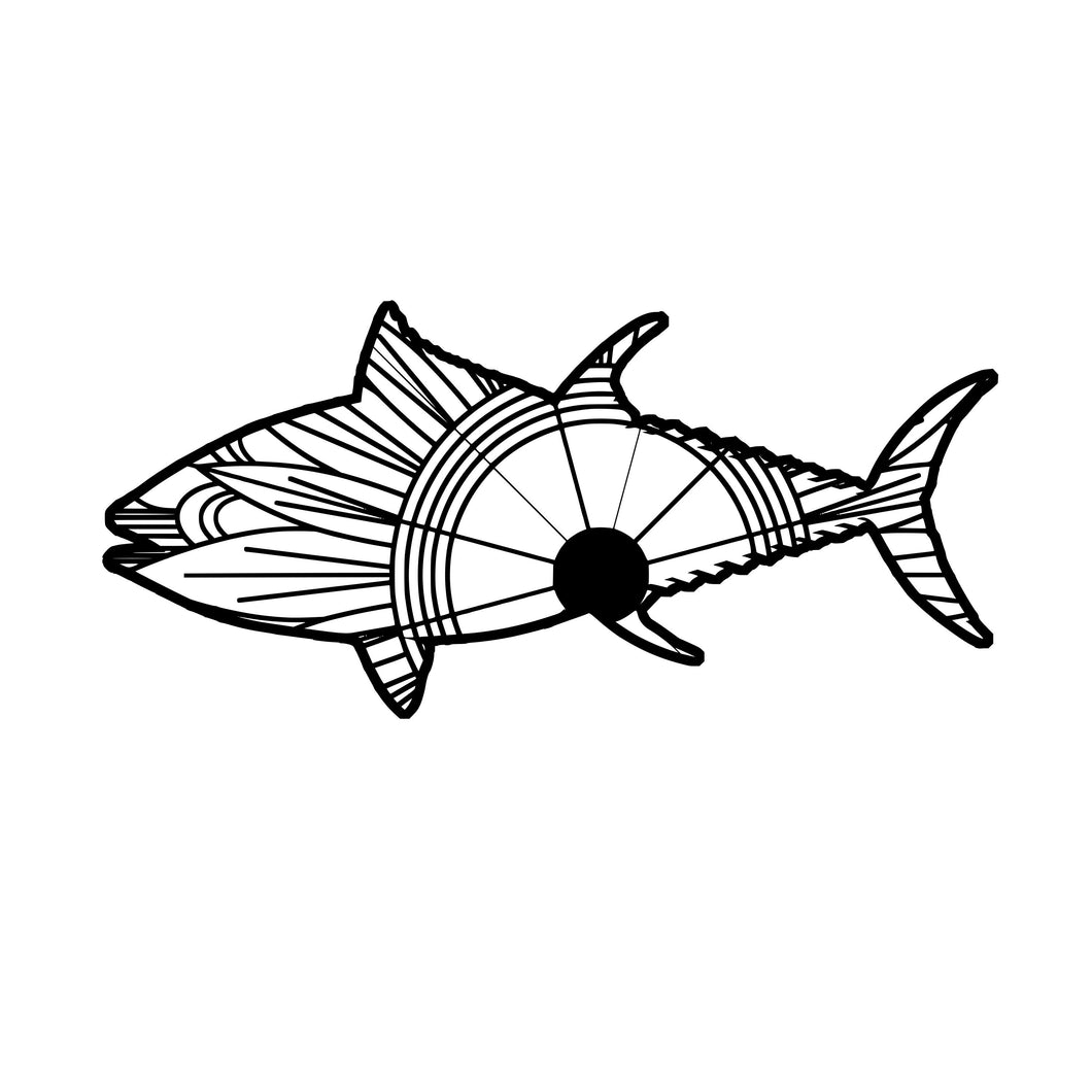 Bluefin Tuna Mandala SVG