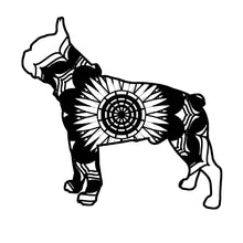 Boston Terrier Mandala Animals SVG