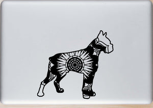 Boxer Dog Mandala Animals SVG
