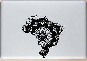 Brasil Map Mandala Animals SVG