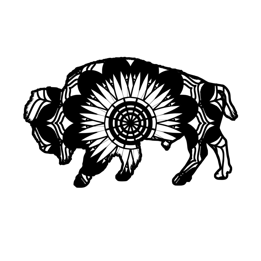 Buffalo Mandala Animals SVG