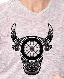 Bulls Head Mandala Animal SVG