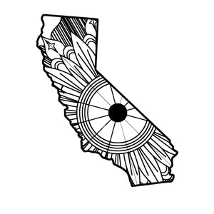 California Map Mandala SVG