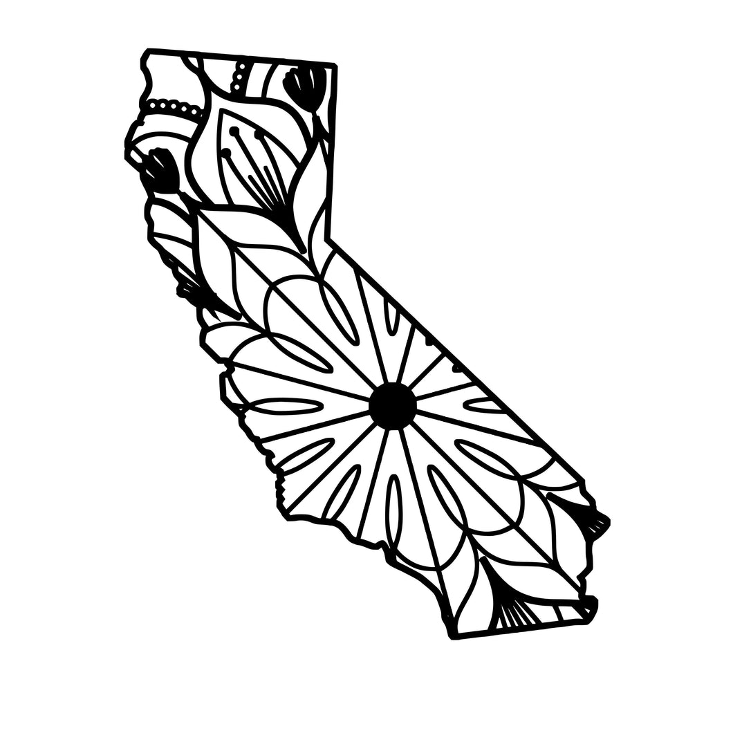 California Map Mandala - California Map Mandala Svg -