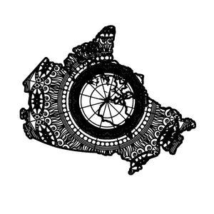 Canada Map Mandala Animal SVG