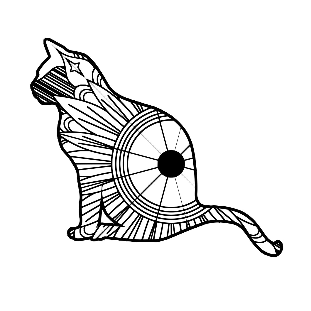 Cat Sitting Mandala SVG