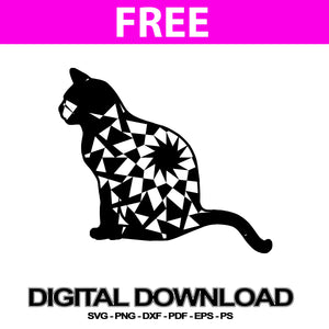 Cat Sitting Svg Files For Silhouette