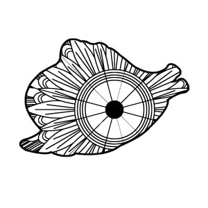 Clam Mandala SVG