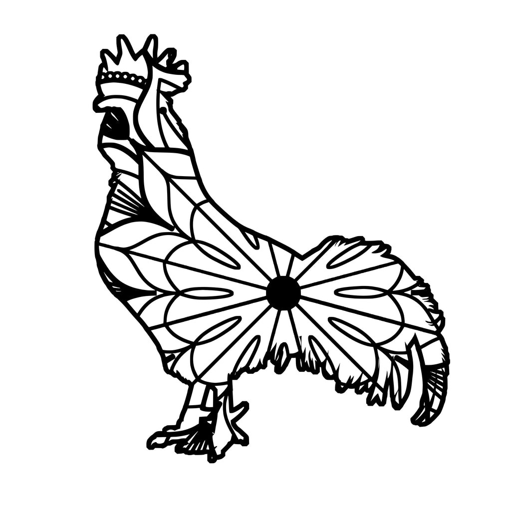 Cockerel Mandala - Cockerel Mandala Svg -