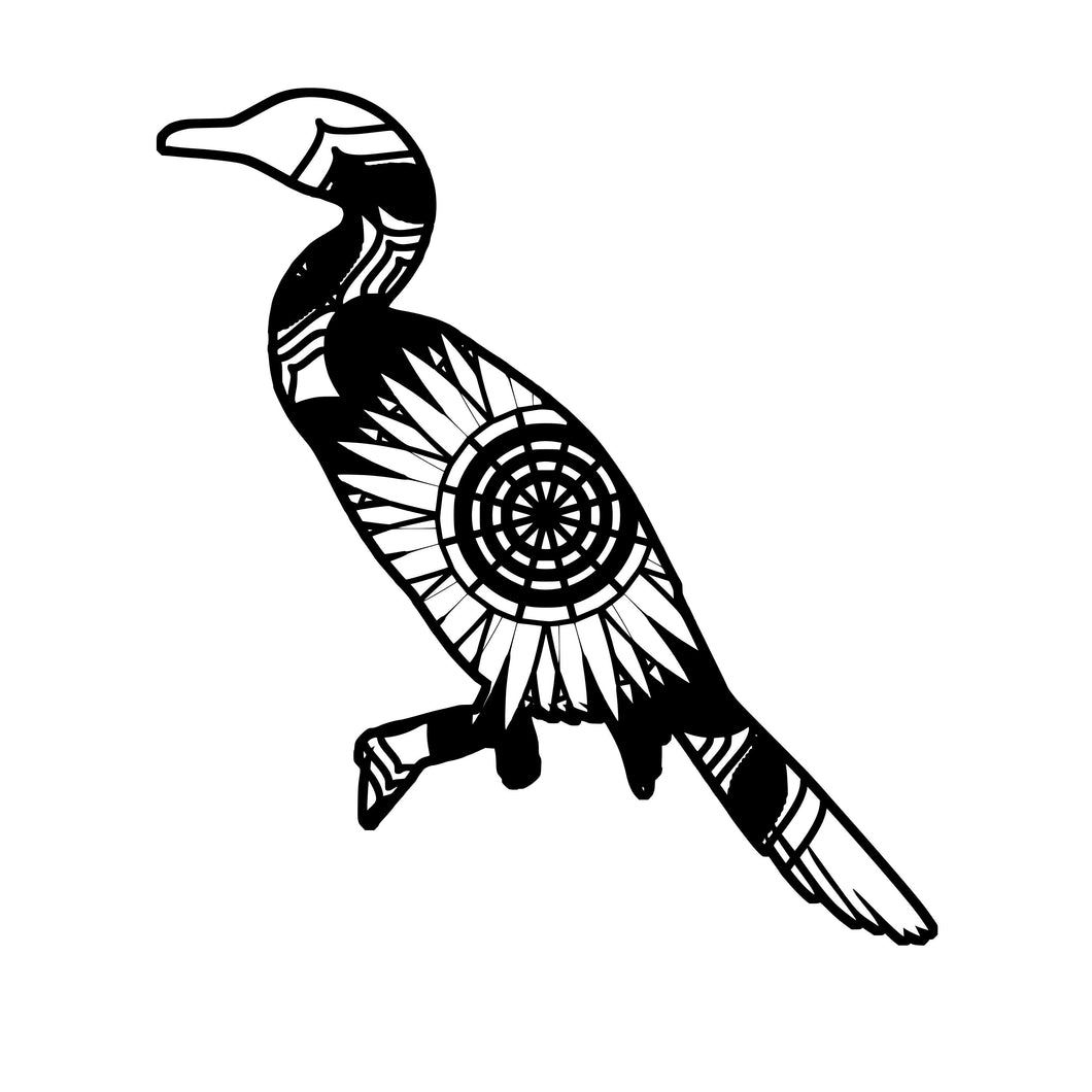 Cormorant Mandala Animals SVG