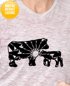 Cow And Calf Mandala