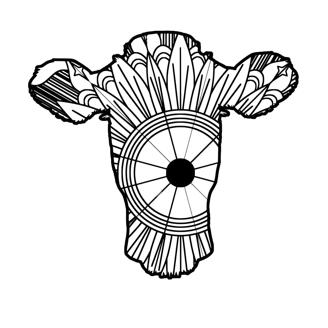 Cow Head Mandala SVG