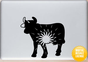 Cow Mandala Winter SVG