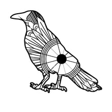 Crow 1 Mandala SVG