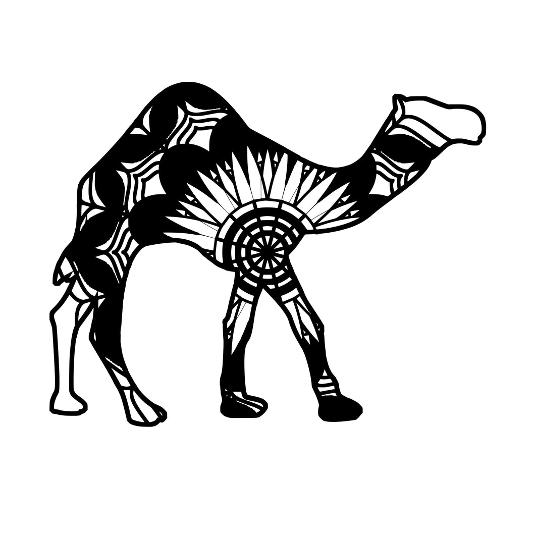 Dromedary Camel Mandala Animals SVG
