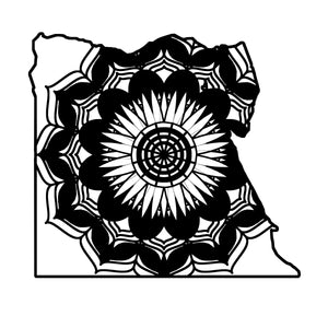 Egypt Map Mandala Animals SVG
