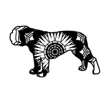 English Bulldog Mandala Animals SVG