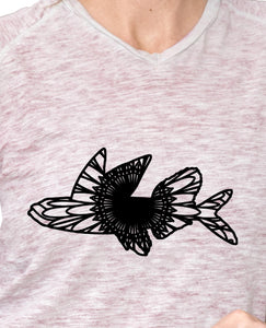 Flying Fish Mandala - Flying Fish Mandala Svg - Flying Fish Animal Mandala Svg - Flying Fish Mandala Monogram