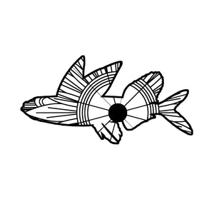 Flying Fish Mandala SVG